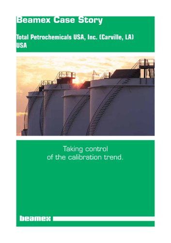 Case Story Total Petrochemicals- Taking Control of the Calibration Trend
