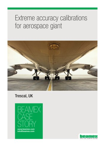 Case Story Trescal, UK - Extreme accuracy calibrations for aerospace giant
