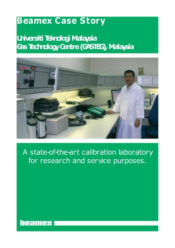 Case Story Universiti Teknologi Malaysia- A state-of-the-art calibration laboratory