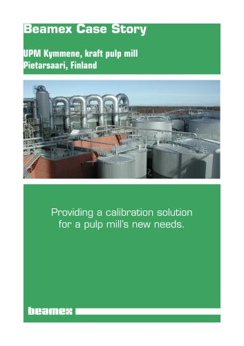 Case Story UPM Kymmene- A calibration Solution for a Kraft Pulp Mill