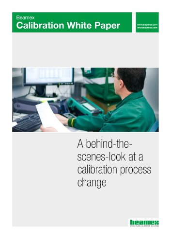 White Paper - A behind-thescenes- look at a calibration process change