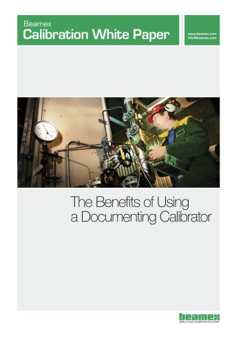 White Paper- The Benefits of Using a Documenting Calibrator
