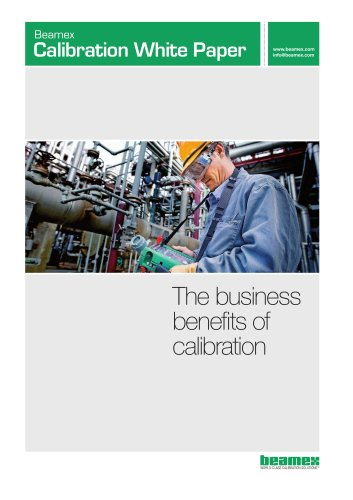White Paper- The Business Benefits of Calibration