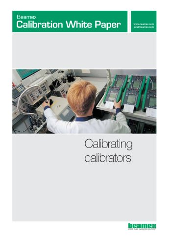 White Paper- Calibrating Calibrators