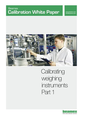 White Paper- Calibrating Weighing Instruments - Part 1