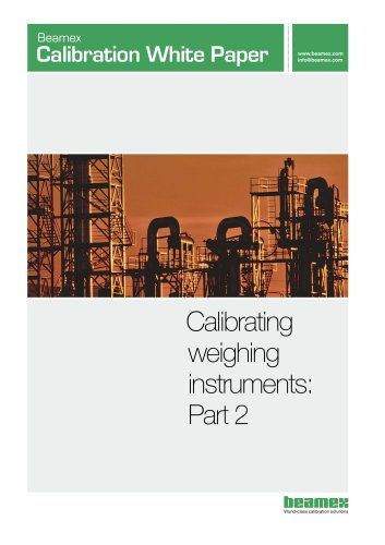 White paper- Calibrating Weighing Instruments - Part 2