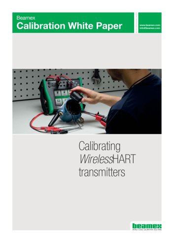 White paper - Calibrating Wireless HART transmitters