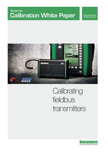 White Paper- Calibration of Fieldbus Transmitters