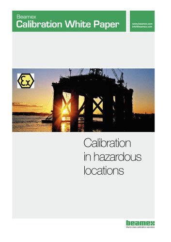 White Paper- Calibration in Hazardous Locations