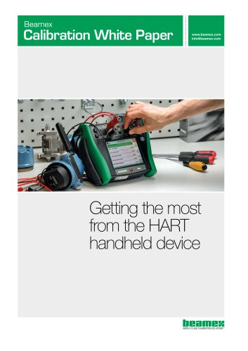 White Paper - Getting the most from the HART handheld device