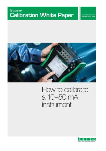 White paper - How to calibrate a 10-50mA instrument