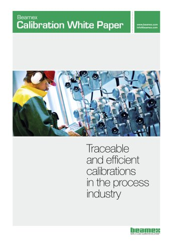 White Paper- Traceable and Efficient Calibrations in the Process Industry