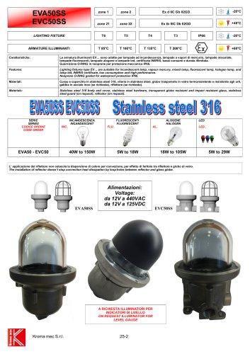 LIGHTING FIXTURE EVA50/EVC50 Exd IIC - SS316