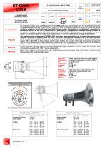 LOUDSPEAKER ETH20MD 100V