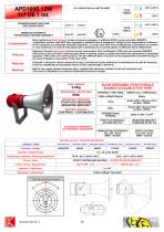 SOUNDER/HORN APD100S 12W Exd IIB+H2 114/117 dB - 1 mt