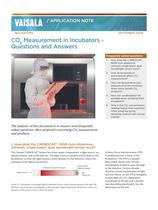 CO2 Measurement in Incubators - Questions and Answers - 1