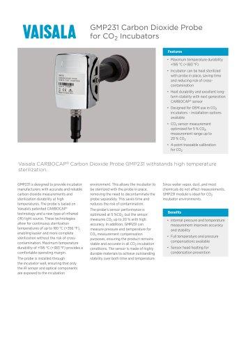 GMP231 Carbon Dioxide Probefor CO2 Incubators