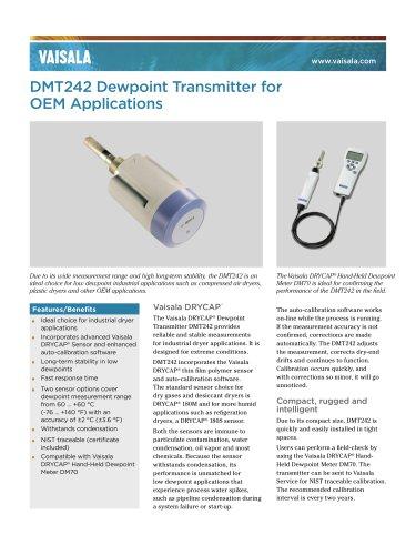 Vaisala DRYCAP® Dewpoint Transmitter DMT242