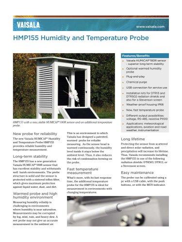 Vaisala HUMICAP® Humidity and Temperature Probe HMP155