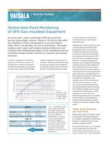 White Paper: Online Dew Point Monitoring  of SF6-Gas-Insulated Equipment - 1