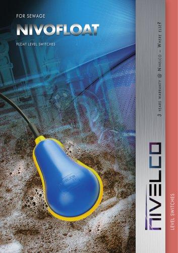 NIVELCO LEVEL SWITCHES - FLOAT FOR SEWAGE - NIVOFLOAT