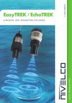NIVELCO LEVEL TRANSMITTERS - ULTRASONIC INTEGRATED AND COMPACT FOR LIQUIDS - EasyTREK and EchoTREK