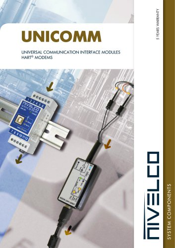 NIVELCO SYSTEM COMPONENTS - COMMUNICATION MODULES - UNICOMM
