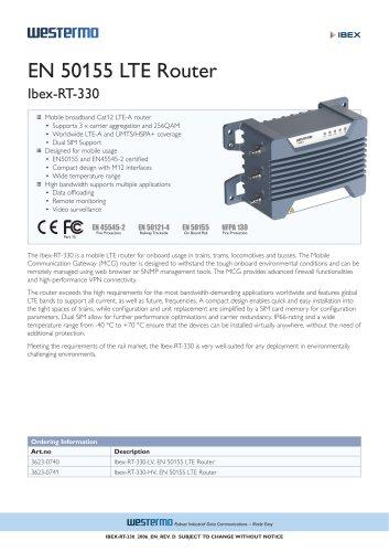 EN 50155 LTE Router Ibex-RT-330