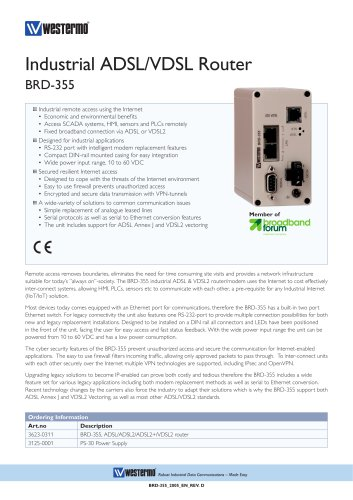 Industrial ADSL/VDSL Router BRD-355