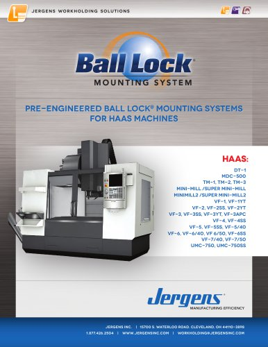 Jergens Ball Lock Selector Guide HAAS