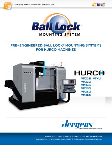 Jergens Ball Lock Selector Guide Hurco