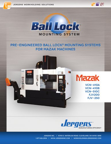 Jergens Ball Lock Selector Guide Mazak