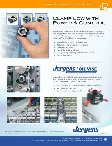 Jergens Low Profile Clamping Solutions