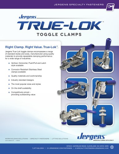 Jergens True-Lok™ Toggle Clamps Flyer