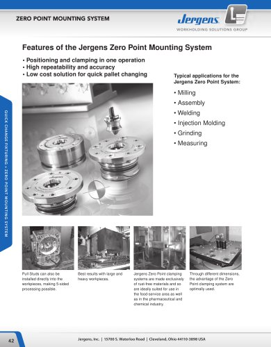 Jergens Zero Point System Catalog