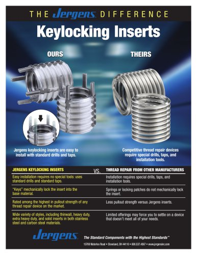 Keylocking Inserts Sheet