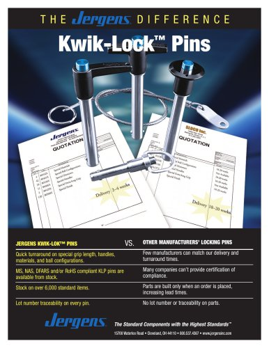 Kwik-Lok™ Pins Sheet