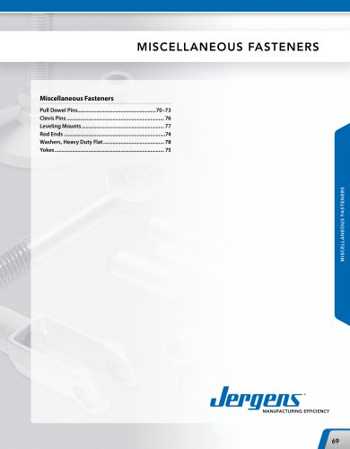 Miscellaneous Fasteners Catalog
