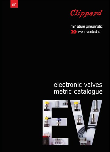 electronic valves metric catalogue