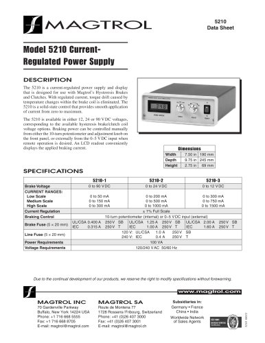 5210-Current-Regulated Power Supply