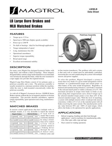 Large Bore and Matched Large Bore Brakes LB / MLB Series