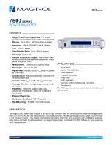 Model 7500 Series   Power Analyzer