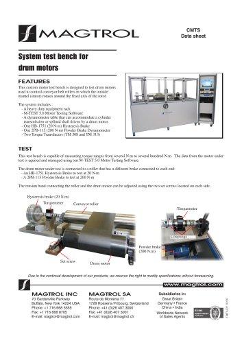 System test bench for drum motors