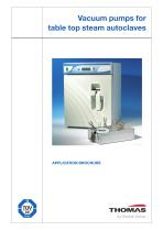 Vacuum pumps for table top steam autoclaves