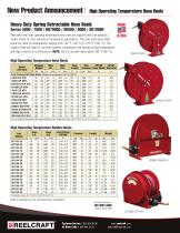 Spring Driven, High Operating Temperature Hose Reels