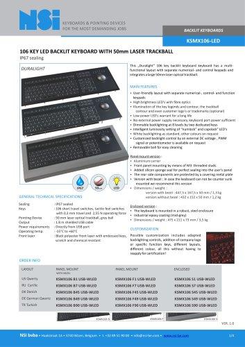 BACKLIT KEYBOARDS KSMX106-LED