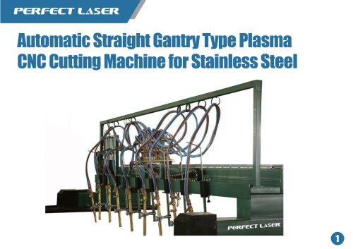 Automatic Straight Gantry Type Plasma CNC Cutting Machine for Stainless Steel
