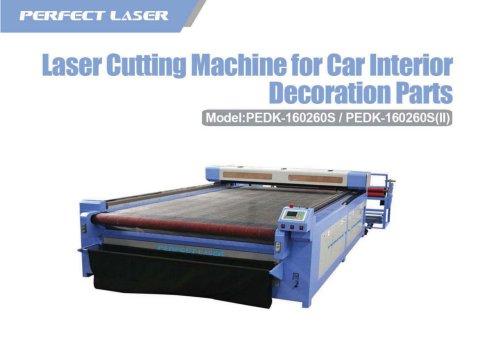 laser cuutting machine for car interior deciration parts PEDK-160260