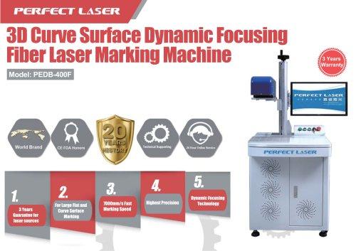 Perfect Laser 3D curve surface dynamic focusing fiber laser marking machine PEDB-400F