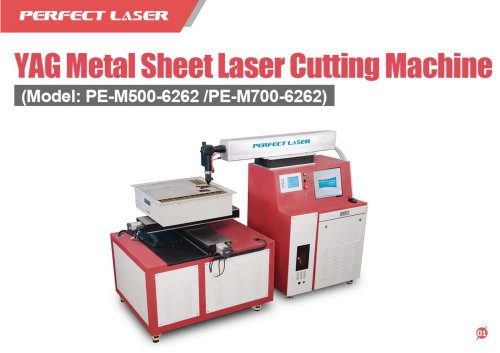 Perfect Laser-YAG Metal Sheet Laser Cutting Machine PE-6262 500W 700W